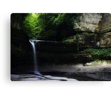 LaSalle Canyon Waterfall Canvas Print