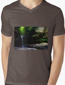 LaSalle Canyon Waterfall Mens V-Neck T-Shirt