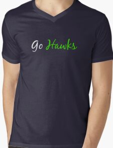 Go Hawks Mens V-Neck T-Shirt