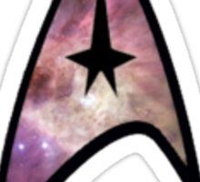Cosmic Star Trek Insignia in Blue Sticker