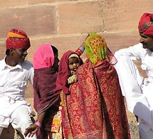 Chatting to Friends, Jodhpur by Pauline Andrews