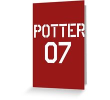Potter Quidditch team Greeting Card