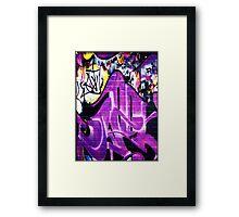 Grafitti Wall 1 Framed Print