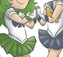 Sailor Neptune and Sailor Uranus Sticker