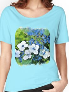 Blue Wave - watercolour Women's Relaxed Fit T-Shirt