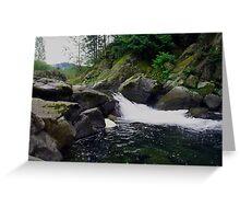 Small Waterfall at Dougan Falls Greeting Card