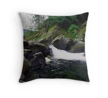Small Waterfall at Dougan Falls Throw Pillow