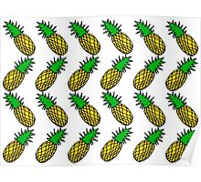 colour pineapple print Poster