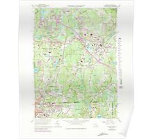 Massachusetts  USGS Historical Topo Map MA Franklin 350966 1964 25000 Poster