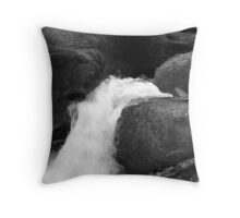 water carving a path through the rock Throw Pillow