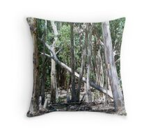 Fallen tree in the Forest Throw Pillow
