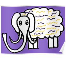 Wooly mammoth cotton candy Poster