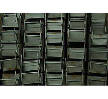 Metal desks Photographic Print