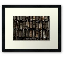 wooden desks Framed Print