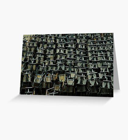 metal chairs Greeting Card