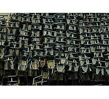 metal chairs Photographic Print