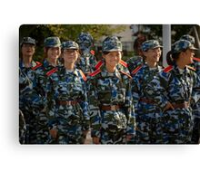 girl soldiers 1 Canvas Print