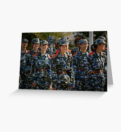 girl soldiers 1 Greeting Card