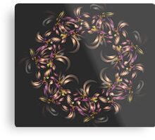 Ribbon Wreath Metal Print