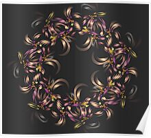 Ribbon Wreath Poster