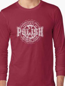 Vintage Polish Drinking Team Bottle Cap Long Sleeve T-Shirt