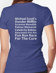 Dunder Mifflin Fun Run Womens Fitted T-Shirt