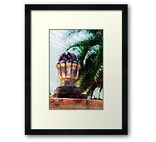 Buttress Cap Framed Print
