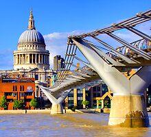 Millennium Bridge and Saint Pauls - London by Colin  Williams Photography
