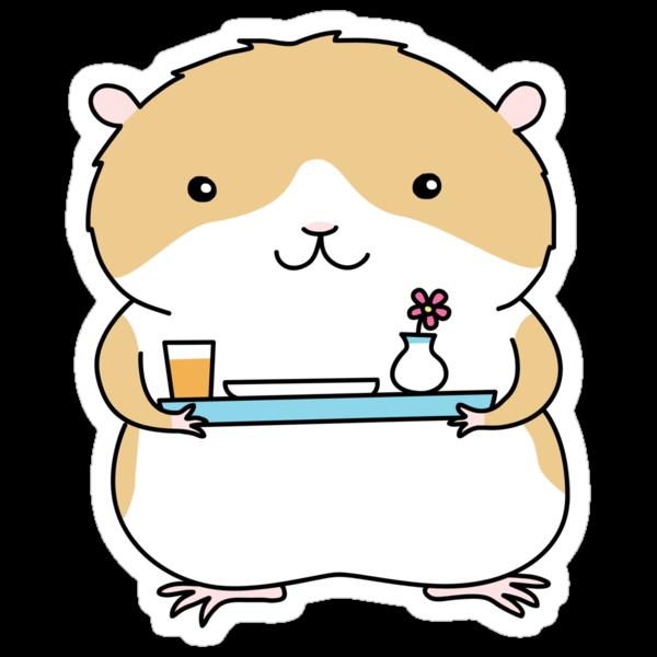Breakfast in Bed - Hamster by zoel