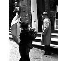 Flying umbrella... Photographic Print