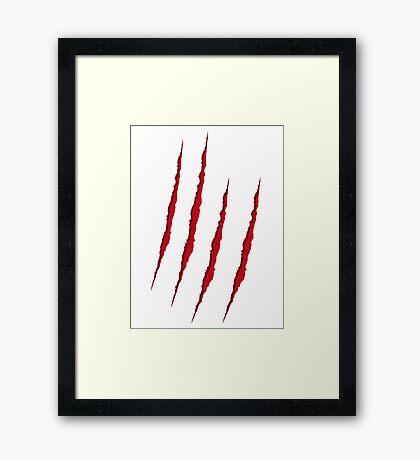 Scratch Framed Print