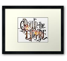 "Crown The Empire ""The Fallout"" Logo Framed Print"