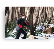 Snow Fight. Canvas Print