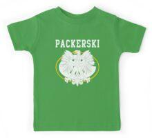 Packerski Wisconsin Polish Fan Kids Tee