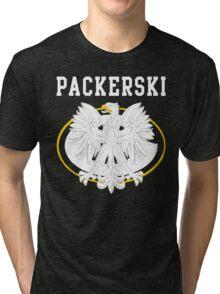 Packerski Wisconsin Polish Fan Tri-blend T-Shirt