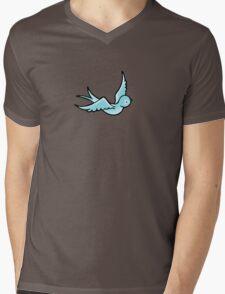 Just a Little Blue Bird Mens V-Neck T-Shirt