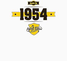 Born in 1954 (Choco&Yellow) Womens Fitted T-Shirt