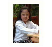 little asian girl Art Print