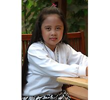 little asian girl Photographic Print