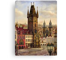 Prague's Old Town square Oil painting on canvas Canvas Print
