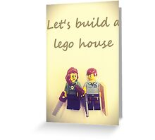 Let's build a lego house Greeting Card