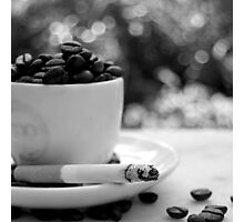cigarettes and coffee, man, that's a combination Photographic Print