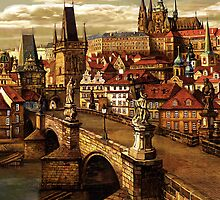 Prague Charles bridge  by Victoria Francisco