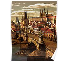 Prague Charles bridge  Poster