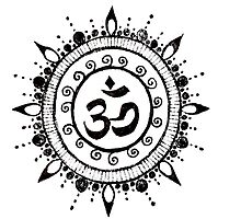 Om Namaste Symbol by Marcia  Connell-Smith