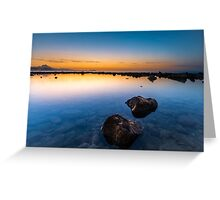 Dawn at Cala de la Punta del Riu Greeting Card