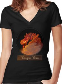 Dragon Born Women's Fitted V-Neck T-Shirt