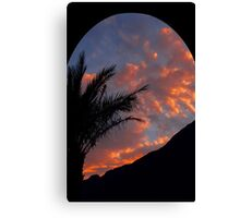 Sunset by the Red Sea Canvas Print