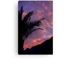 Sunset at Taba on the Red Sea Canvas Print