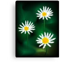 Digital painting of flowers  Canvas Print